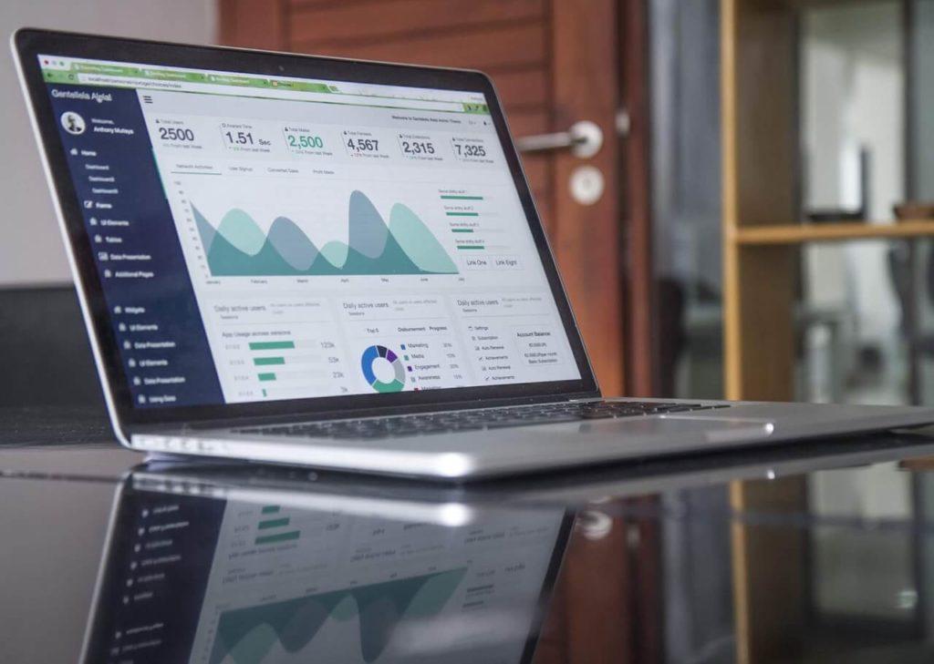 Website analytics on a Mac laptop