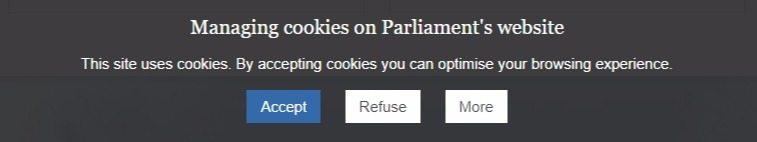 A cookies notice
