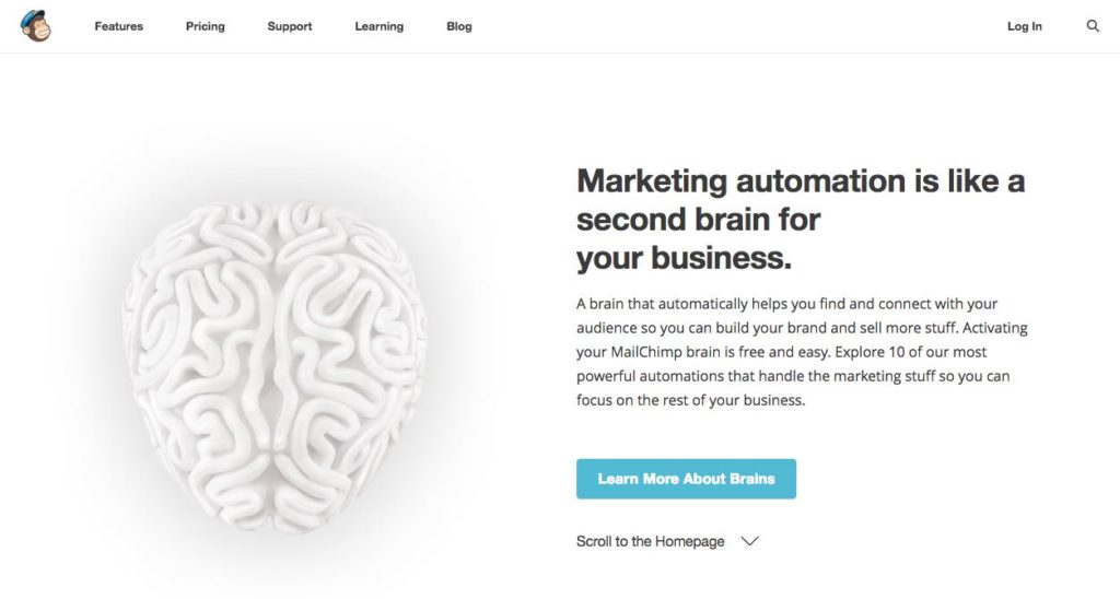 MailChimp Homepage