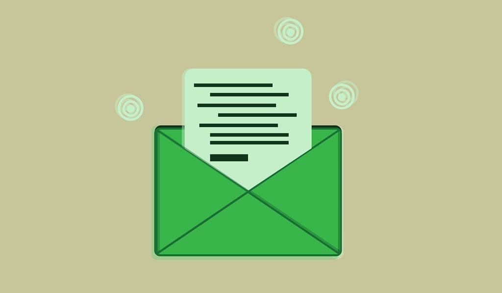 Illustration of a letter in an envelop