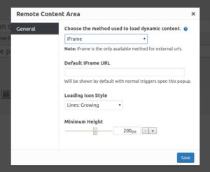 iFrame method options